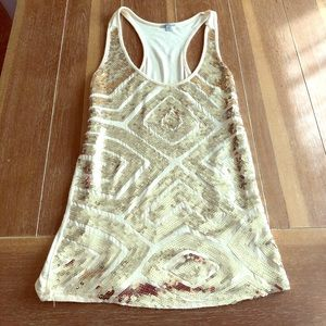 Gold/Tan sequence tank